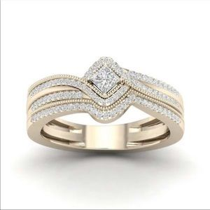 New Women's Yellow Gold Diamond Luxury Ring